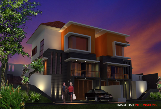 Image bali architects associates modern tropical for Minimalist house jakarta